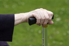 Walking stick grip Royalty Free Stock Photos
