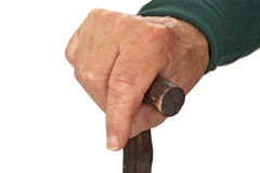 Walking stick in hand stock photography