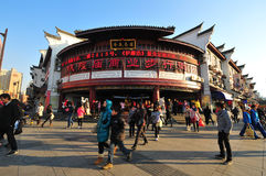 Walking street. In city god temple, ningbo city, china. January 16, 2011 Stock Photos