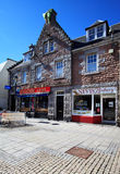 Walking street in Fort William, Scotland. Walking street with ancient  Gaelic buildings in Fort William, Scotland Stock Images