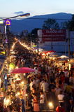Walking street market stock image