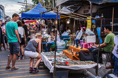 Walking street market. Stock Images