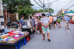 Walking street market. Royalty Free Stock Photos