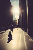 Walking on the street of New York Stock Photo