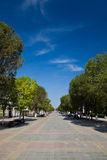 Walking street in Orenburg Royalty Free Stock Photo