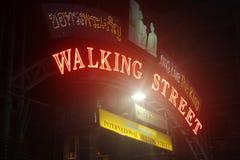 Walking Street Pattaya Royalty Free Stock Images