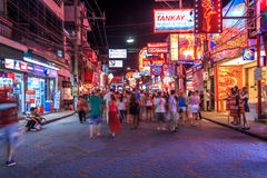 Walking Street Pattaya, Thailand Royalty Free Stock Images