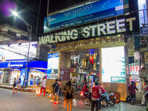 Walking Street of Pattaya Thailand Royalty Free Stock Photo