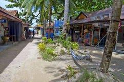 The Walking Street of Railay village Stock Image