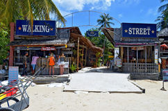 The Walking Street of Railay village Royalty Free Stock Photography