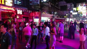 Walking Street - red-light district in Pattaya, Thailand Stock Photo