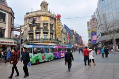 Walking Street in Shanghai Royalty Free Stock Images