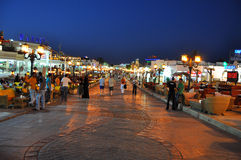 Walking street Sharm el Sheik stock photography