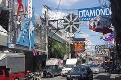 Walking street in South Pattaya Royalty Free Stock Image