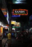 Walking street in Thailand Royalty Free Stock Photos