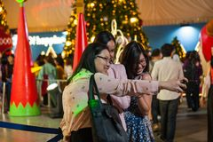 Walking Street is a tourist destination for people who want to eat in the evening. Central world-on Dec 13th, 2018: Central World A place where many events and stock images