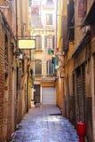 Walking street in venice italy.JPG. Walking street in venice italy in morning light.JPG royalty free stock photos