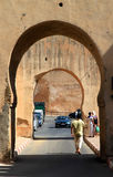 Walking the streets of Meknes Stock Image