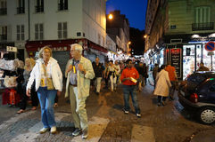 Walking the Streets at Night Royalty Free Stock Images