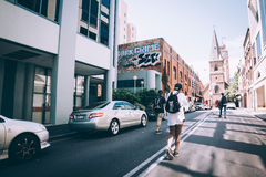 Walking the streets Royalty Free Stock Photo