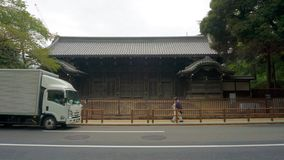 Walking through the streets of Tokyo. Traditional japanese architecture. Ueno Park District stock photography