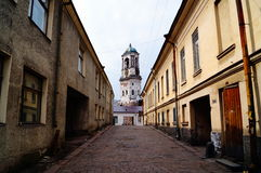 Walking through the streets of Vyborg. Royalty Free Stock Image