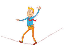 Walking on string Royalty Free Stock Photo