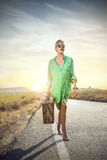 Walking in the sun royalty free stock images