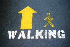 Walking symbol. Royalty Free Stock Photo