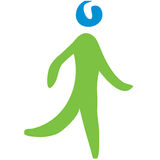 Walking symbol stock image