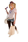 Walking Talking Shopping Royalty Free Stock Image