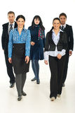 Walking team of business people Stock Photography