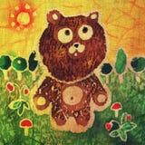 Walking teddy bear stock illustration