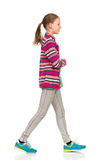 Walking Teen Casual Girl Royalty Free Stock Image