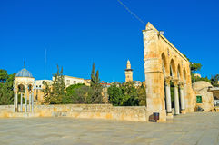 Walking on the Temple Mount Royalty Free Stock Photography