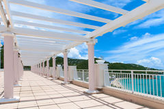 Walking terrace in Marriots Frenchmans Cove Stock Photos