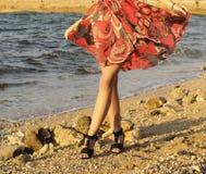 Walking on th beach Stock Image