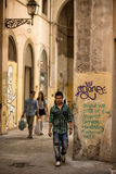 Walking though an alley Florence Royalty Free Stock Photo