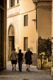 Walking though an alley Florence Royalty Free Stock Images
