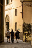 Walking though an alley Florence Stock Photography
