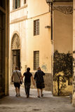 Walking though an alley Florence Royalty Free Stock Photography