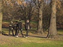 Walking Through The Park Royalty Free Stock Photos