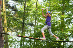 Walking the tightrope Royalty Free Stock Photos
