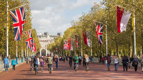 Walking to and from Buckingham Palace in London Stock Images