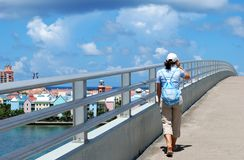 Walking to Paradise Island Stock Photo
