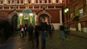 Walking to the Red Square in Moscow stock video