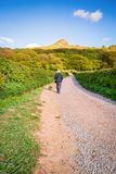 Walking to Roseberry Topping Stock Photography