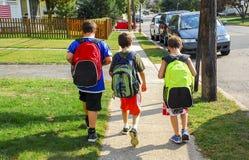 Walking to School Stock Image