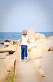 Walking to the sea Stock Image