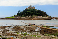 Walking to St Michael's Mount Stock Image